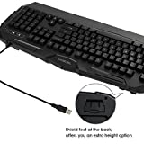 TEC.BEAN Rainbow LED Backlit Wired Office Gaming Keyboard