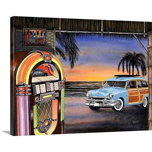 Beach Music Canvas Wall Art Print, 40