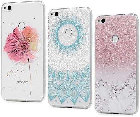 3 x Huawei P8 Lite 2017 Carcasas, KASOS Funda para Huawei P8 Lite 2017 Case Silicona TPU Blanda Ultrafina