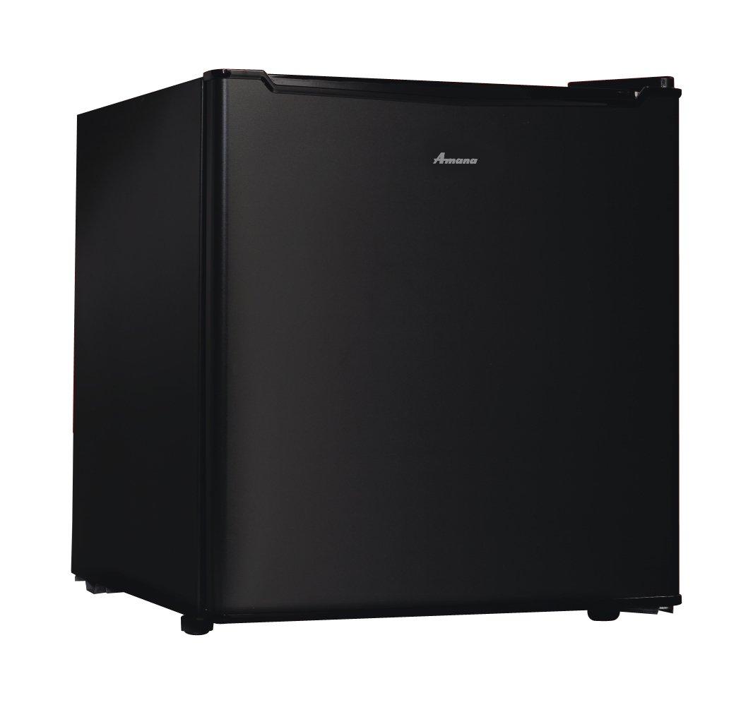 Amana AMA17BLK Compact Single Door Refrigerator, 1.7 cu. ft, Black