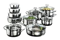 Karcher Jasmin 121008 20-Piece Cookware Set with Roasting Pot and 4 Bowls Stainless Steel for Induction by Kärcher