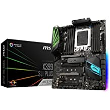 MSI Pro AMD Ryzen ThreadRipper DDR4 VR Ready HDMI USB 3 SLI CrossFire ATX Motherboard (X399 SLI PLUS)