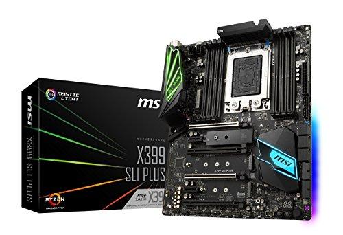 MSI X399 SLI Plus Gaming AMD Ryzen ThreadRipper DDR4 VR Ready HDMI USB 3 SLI Crossfire ATX Motherboard