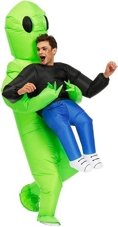 Amazon.com: Kooy Disfraz inflable de Papá Noel Alien de ...