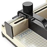 Flexzion Guillotine Stack Paper Trimmer Cutter 12