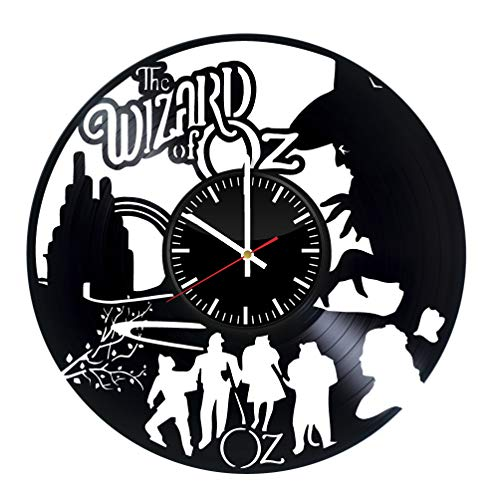 The Wizard of Oz design Unique Wall Clock for bedroom, bathroom, kitchen, livingroom – gift idea for birthday, wedding, Mother's Day, Valentine's Day ()