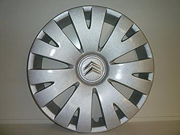 Juego de Tapacubos 4 Tapacubos Diseño Citroen Picasso r 15 () Logo Cromado: Amazon.es: Coche y moto