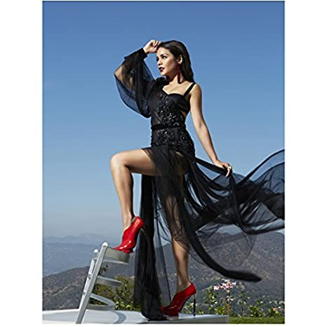 41fc8888ff432 Vanessa Hudgens in Black Sheer Evening Gown and Bright Sexy Red ...