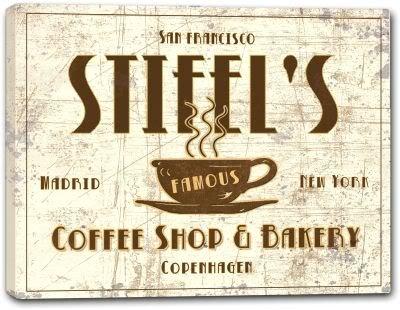Stifels Coffee Shop   Bakery Stretched Canvas Print 16  X 20