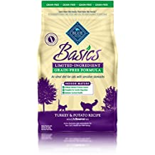 Blue Buffalo Basics Turkey & Potato Recipe for Cats Indoor Mature Grain Free Dry Cat Food, 5 lb Bag