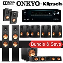 Klipsch RP-280FA 7.1.2-Ch Reference Premiere Dolby Atmos Home Theater System with Onkyo TX-NR777 7.2-Ch Network AV Receiver