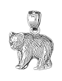 Gold Bear Pendant (approx. 3 grams, 19 mm x 15 mm)