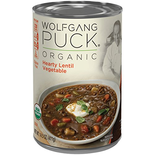 Wolfgang Puck Organic Hearty Lentil Vegetable Soup, 14.5 Ounce (Packaging May Vary) (Garden Veggie Pizza)