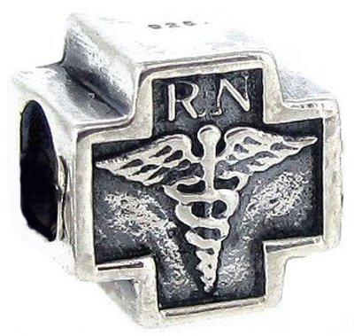 De enfermera Everbling Rn de Cruz auténtico de plata de ley cuenta