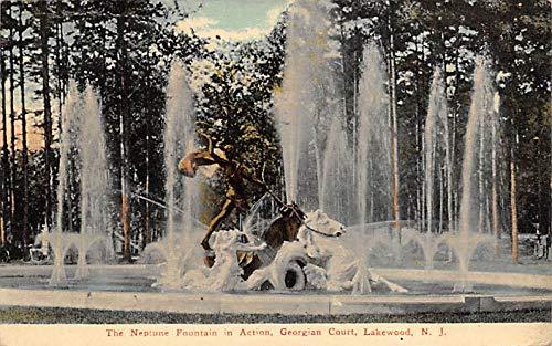 The Neptune Fountain in Action Georgian Court, Lakewood, N.J, USA Postcard 1912