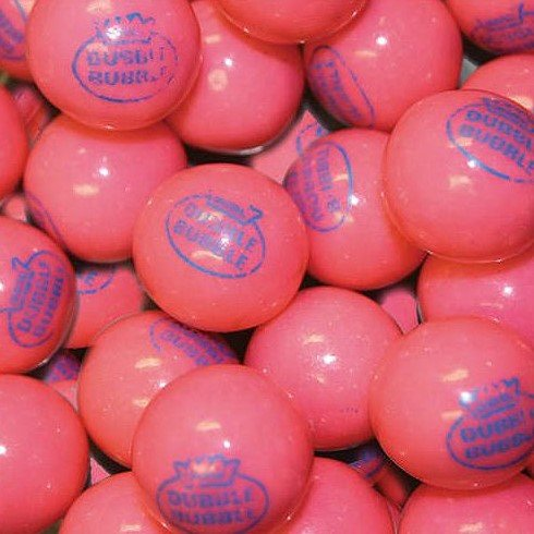 Dubble Bubble Pink 1928 Original 24mm Gumballs 1 Inch, 2 Pounds Approximately 110 Gum ()