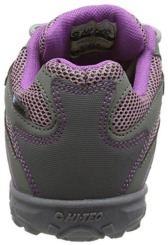 Hi-Tec Meridian Low EZ Waterproof Junior, Zapatillas Para Niñas Gris (Steel Grey/Horizon/Orchid 051)