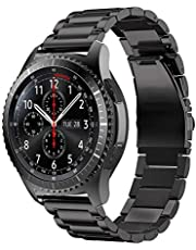 TERSELY Band Strap for Samsung Gear S3 / Galaxy Watch 46mm, Quick Release 22mm Stainless Steel Metal Bands for Samsung S3 Frontier/Classic/Galaxy Watch 46mm Smartwatch