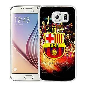 Fc Barcelona 2 White Unique Hard Samsung Galaxy S6 G9200 Phone Case