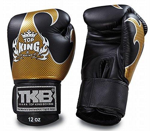 TOPKING ボクシンググローブ 本革製 エンパワー Gold/Black B0764GGZNF  10oz