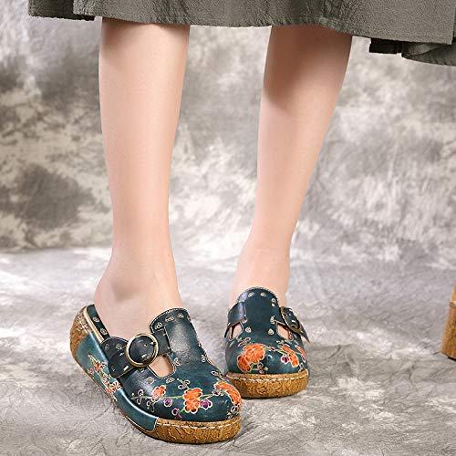Bleu Taille coloré Chaussures 37 Bleu ZHRUI EU wBHTq