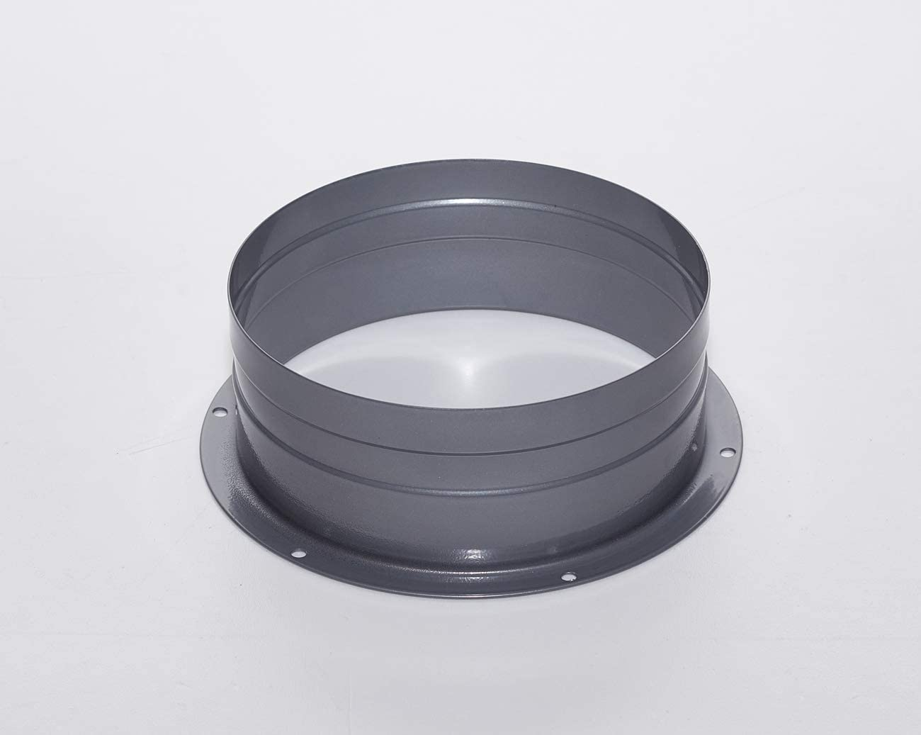 Duct Connector Flange Metal Straight Pipe Flange for Heating Cooling Ventilation System 4/6 Inch (4 inch)