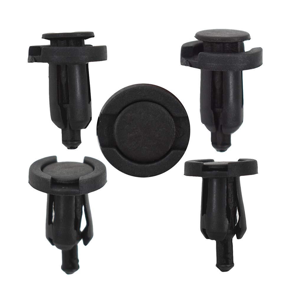 Car 10mm*100 Hole Dia Plastic Rivets Fastener Fender Bumper Push Pin Clips Black