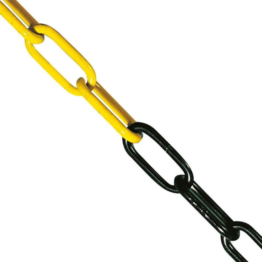 gelb//schwarz mit 2 m Stahlkette ROBUSTO Kettenpfostenset STAHL 2-teilig