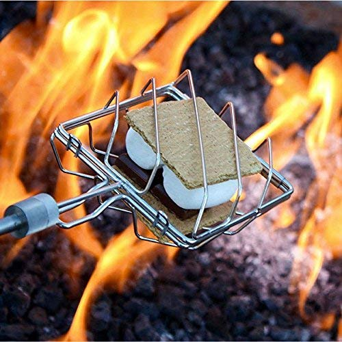 Grubstick Deluxe 13 Piece Kit- Your Last Roasting Stick | Premium Campfire 37'' Telescoping/Extendable Reusable Skewer Kit | for Marshmallows, Hot Dogs, Smores, and More - Dishwasher Safe by Grubstick (Image #6)