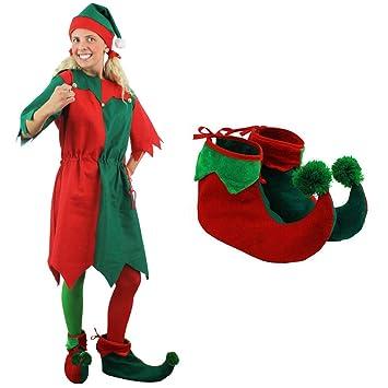 b4d4718fc8a0e ILOVEFANCYDRESS Déguisement d Elfe ou Lutin de Noël pour Femme - Y Compris   Un