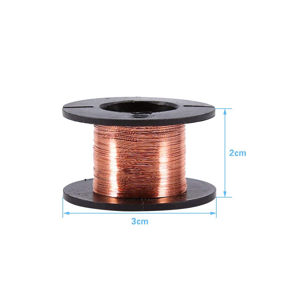 10 Rolls 20 Rolls//10 Rolls// 5 Rolls Copper Enameled Wire 0.1mm Magnet Winding Repair Wire 15m for Connecting or Soldering Purpose