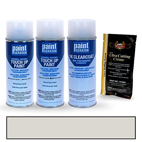Scion Tc Paint - PAINTSCRATCH 2017 Scion tC Blizzard Pearl Tricoat 070 Touch Up Paint Spray Can Kit by Original Factory OEM Automotive Paint - Color Match Guaranteed
