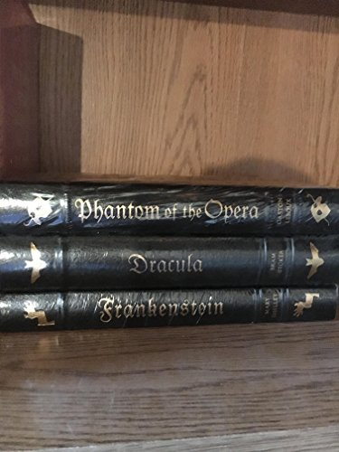 HORROR CLASSICS : DRACULA, FRANKENSTEIN, PHANTOM OF THE OPERA Three-Volume Matching Set (Frankenstein Leather Bound)