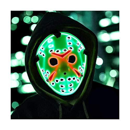 Mosqueda Jason Mask LED Light Up Mask Cosplay Costume Halloween Style 2 ()
