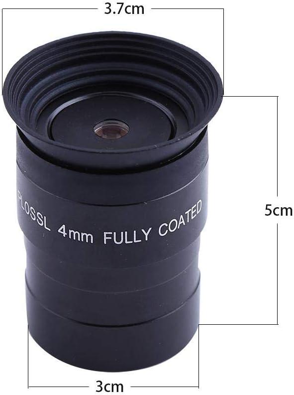 Simlug Telescope Eyepieces Fully Coated HD 1.25 Inch 4mm Eyepiece Plossl Eyepiece Lens for Telescope Accessory
