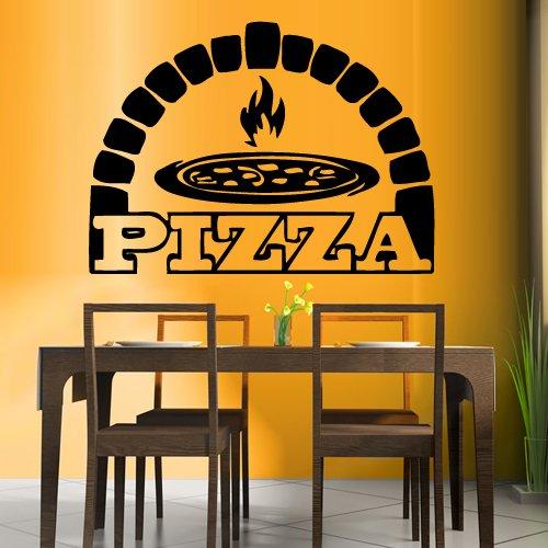 Wall Decal Vinyl Sticker Decals Art Decor Design Pizza interior Pizzeria Resaurant Italy Kitchen Food inscription signboard Fun M1526 -