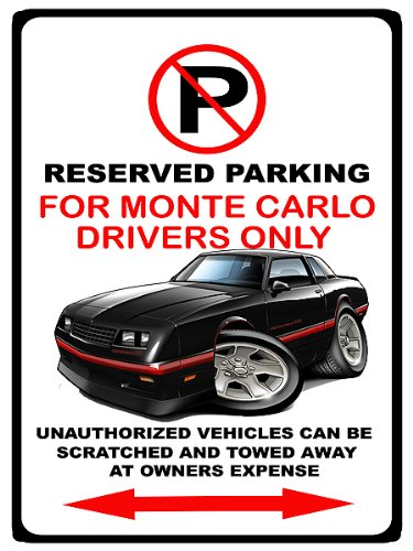Carlo SS Muscle Car No Parking Sign ()