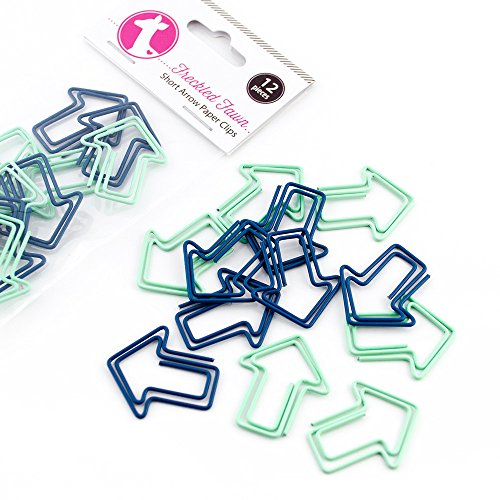 Freckled Fawn Blue Short Arrow Paper Clips (pcarblue)