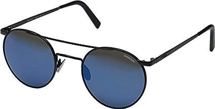 82329092e81e Image Unavailable. Image not available for. Color: Randolph Unisex P-3  Shadow 49mm Matte Black/Blue Sky Flash Mirror Lens Sunglasses