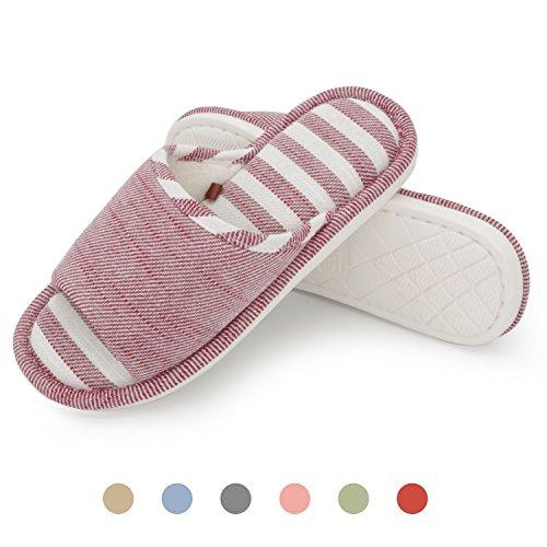 Moodeng House Slippers Women Men Home Indoor Shoes Lightweight Slide Washable Non-Slip Slipper by Red ArTWvXt