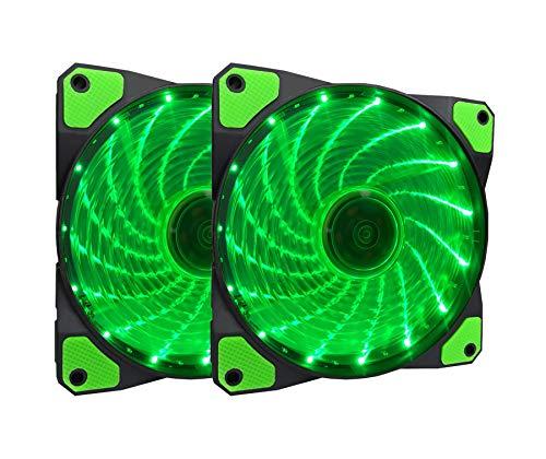 Ventilador Apevia AF212L-SGN 120mm Green LED Ultra Silent Ca
