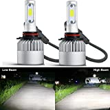 HSUN 9005 HB3 LED Headlight Bulb,All-in-One Conversion Kit-8000 Lumens Extremely Super Bright COB