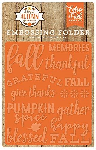 Echo Park Paper Company APA132031 Embossing Folder-Happy (Paper Embossing)