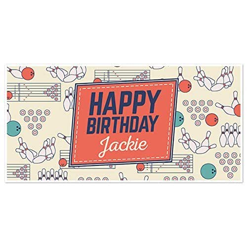 Amazon.com: Bowling Flat Elements Birthday Banner Party