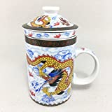 Mug Ceramics tea art Chinese dragon pattern The technicians Hmong hill tribes of northern Thailand RARE Item
