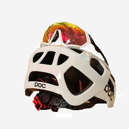 LKJCZ Cascos De Bicicleta, con Funda De Casco Neumático Extraíble CE Certificado Ciclo Ajustable Bicicleta Casco Distribución Gafas De Bicicleta ...