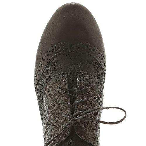Think! 7-87280-09 -, Chaussures de ville à lacets pour femme Noir