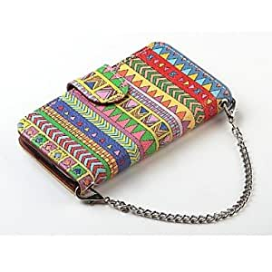 WQQ Aztec Tribal Hybrid Folio PU Leather Wallet Case Flip Stand Cover for iPhone 6 Plus