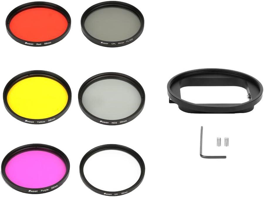 Kit de Filtro 52mm Para Anillo Gopro Hero 5 Color Diferente Accesorios de C/àmara