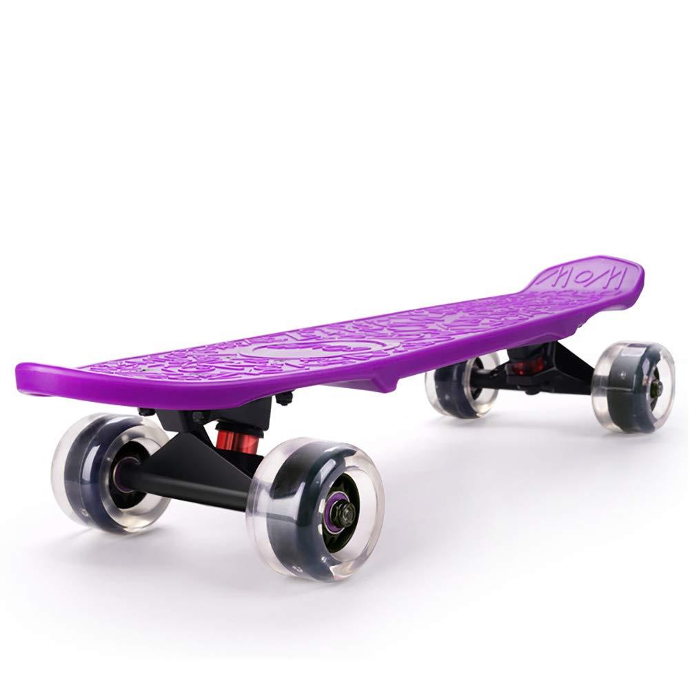 HH スクーター キックスクーター子供スケートボード2-12歳の少年少女、スタントキッズスクーターポータブルトイゲームスポーツアウトドア (色 : Red) B07L46JWNV Purple Purple